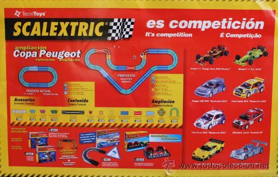 Scalextric: SCALEXTRIC COPA PEUGEOT EN SU CAJA ORIGINAL EN DE FUNCIONAMIENTO - Foto 3 - 36887159