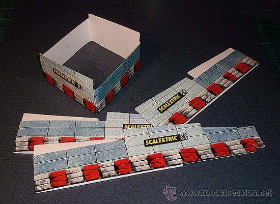 Soportes puente para circuito scalextric / slot - Vendido
