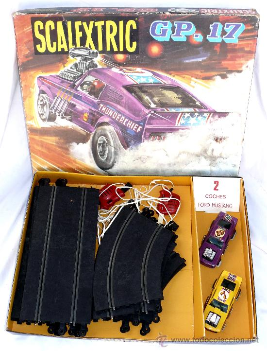 Scalextric: DIFICIL! ANTIGUO SCALEXTRIC EXIN AÑOS 70 GP 17 COHE FORD MUSTANG DRAGSTER AMARILLO Y LILA - Foto 1 - 53084616