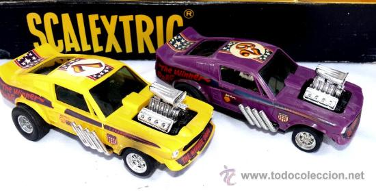 Scalextric: DIFICIL! ANTIGUO SCALEXTRIC EXIN AÑOS 70 GP 17 COHE FORD MUSTANG DRAGSTER AMARILLO Y LILA - Foto 3 - 53084616