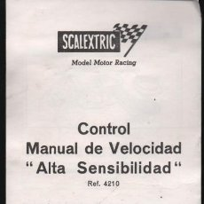 Scalextric: SCALEXTRIC. CONTROL MANUAL DE VELOCIDAD