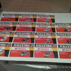 Scalextric: SCALEXTRIC FICHAS COCHES SEAT SPORT. Lote 38600548