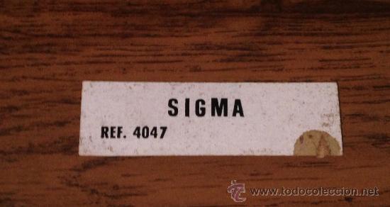 SCALEXTRIC EXIN PEGATINA ORIGINAL SIGMA REF. 4047 (Juguetes - Slot Cars - Scalextric Pistas y Accesorios)