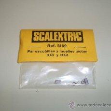 Scalextric: SCALEXTRIC. PAR DE ESCOBILLAS Y MUELLES MOTOR RX2 Y RX3. REF. 5162. Lote 139347248