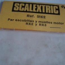 Scalextric: SCALEXTRIC PAR DE ESCOBILLAS Y MUELLES PARA MOTOR RX2 Y RX3. REF 5162. EN BOLSA. Lote 39621596