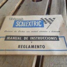 Scalextric: PAPEL MANUAL DE INSTRUCCIONES Y REGLAMENTO SCALEXTRIC EXIN. Lote 39713420