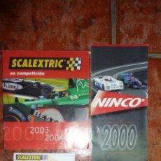 Scalextric - catalogo NINCO año 2000 + cat scalextric es competición 2003-2004 - 3 fichas certificados scalextric - 39958646