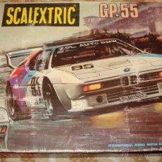 Scalextric: CAJA DE SCALEXTRIC DE EXIN AÑOS 80. GP 55 GP.55. CON 2 COCHES BMW M1 REF 4063 4064. Lote 40882716