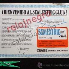 Scalextric: SCALEXTRIC CLUB CARNET DE SOCIO - ¿ AÑOS 60 ? - ESPAÑA - MARCA JUGUETE DE COCHES - JOYA - ANTIGUO. Lote 40949377