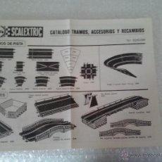 Scalextric: CATALOGO TRAMOS ,ACCERORIOS Y RECAMBIOS 13 EDICCION -VI-80. Lote 41448000