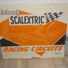 Scalextric: INSTRUCCIONES SCALEXTRIC DE CIRCUITOS RACING CIRCUITS - 7 EDICION 1970. Lote 41672825