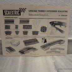 Scalextric: CATALOGO TRAMOS - ACCESORIOS Y RECAMBIO SCALEXTRIC EXIN - 4 EDICION - 1970. Lote 41673413