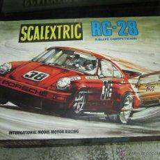 Scalextric: PRECIOSA CAJA DE SCALEXTRIC RC-28 CON SUS DOS PORCHES DE EXIN. Lote 41713247