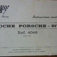 Scalextric: INSTRUCCIONES DE MANTENIMIENTO COCHE PORSCHE 917 REF 4046 SCALEXTRIC EXIN. Lote 43390776