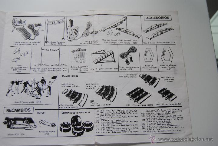 Scalextric: CATALOGO SCALEXTRIC DE ACCESORIOS , PISTAS Y RECAMBIOS CASA PALAU 10 EDICION - Foto 2 - 43830490