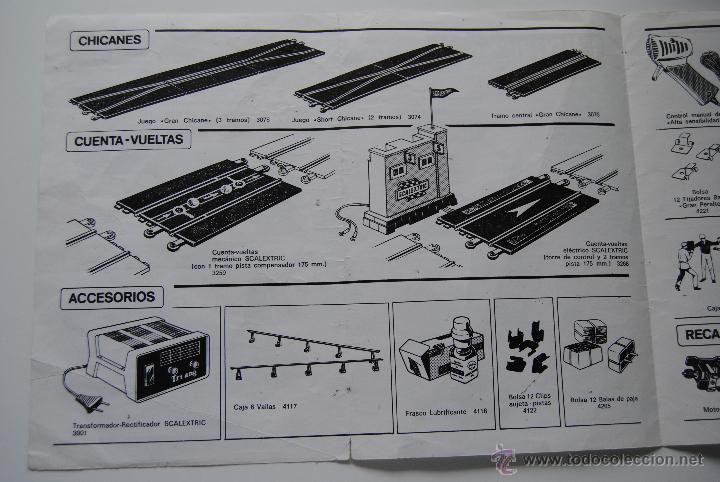 Scalextric: CATALOGO SCALEXTRIC DE ACCESORIOS , PISTAS Y RECAMBIOS CASA PALAU 10 EDICION - Foto 3 - 43830490