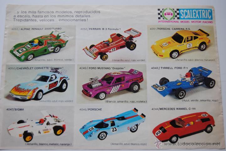 CATALOGO SCALEXTRIC DE COCHES (Juguetes - Slot Cars - Scalextric Pistas y Accesorios)