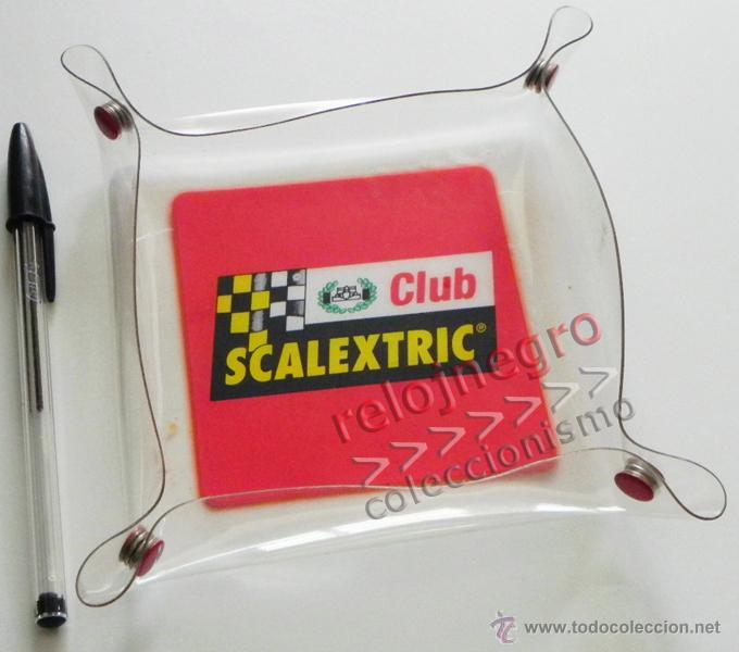 BANDEJA O CENICERO DEL CLUB SCALEXTRIC - DE PLÁSTICO - SE PUEDE ABRIR - LOGO DE LA MARCA DE JUGUETE (Juguetes - Slot Cars - Scalextric Pistas y Accesorios)