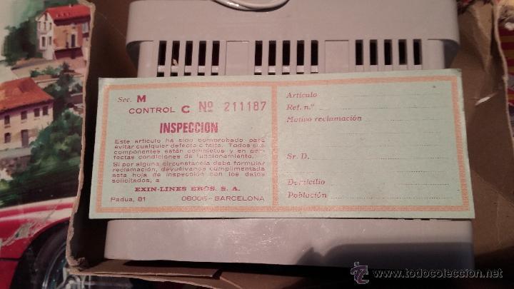 Scalextric: Lote Scaletrix Exin, compuesto, por caja completa, 1 transformador de más, papeles originales y..... - Foto 10 - 49710050