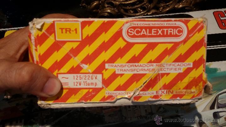 Scalextric: Lote Scaletrix Exin, compuesto, por caja completa, 1 transformador de más, papeles originales y..... - Foto 16 - 49710050