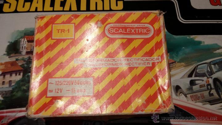Scalextric: Lote Scaletrix Exin, compuesto, por caja completa, 1 transformador de más, papeles originales y..... - Foto 17 - 49710050