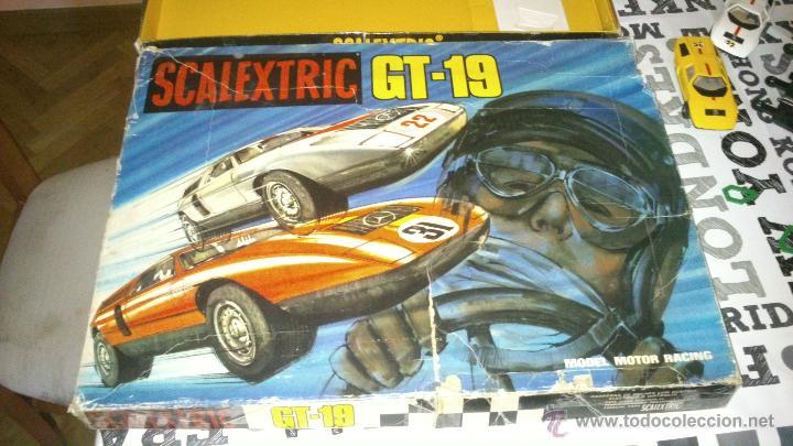 SCALEXTRIC EXIN GT-19 COMPLETO Y CON CAJA ( 2 COCHES MERCEDES WANKELL C-111 ) (Juguetes - Slot Cars - Scalextric Pistas y Accesorios)