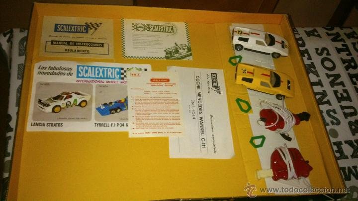 Scalextric: SCALEXTRIC EXIN GT-19 COMPLETO Y CON CAJA ( 2 COCHES MERCEDES WANKELL C-111 ) - Foto 5 - 44774728