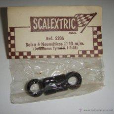 Scalextric: SCALEXTRIC SCX. SRS EXIN. BOLSA 4 NEUMATICOS 13 MM. REF. 5206. Lote 45535961