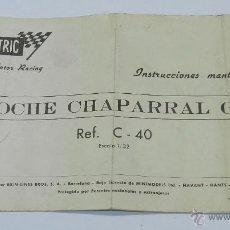 Scalextric: SCALEXTRIC MANUAL DE INSTRUCCIONES COCHE CHAPARRAL GT REF. C-40.. Lote 45737878