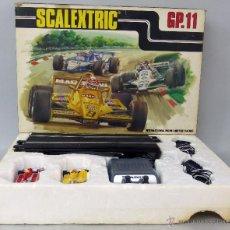 Scalextric: CAJA CIRCUITO SCALEXTRIC GP 11 CON 2 COCHES LIGIER JS 11 AMARILLO Y ROJO. Lote 45831200