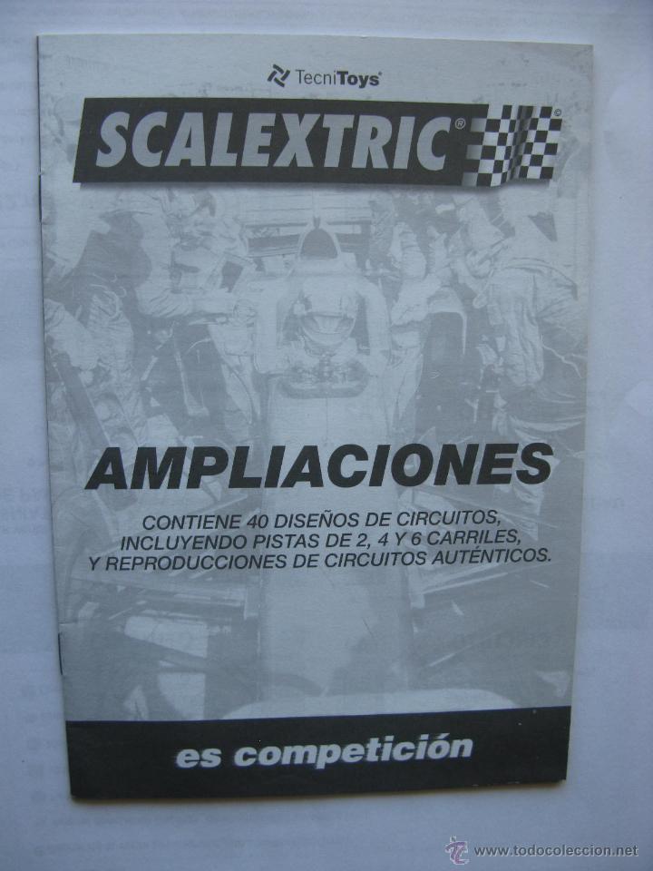 SCALEXTRIC. TECNITOYS. AMPLIACIONES. CONTIENE 40 DISEÑOS DE CIRCUITOS. 15 PÁGINAS. (Juguetes - Slot Cars - Scalextric Pistas y Accesorios)