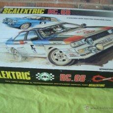 Scalextric: SCALEXTRIC EXIN RC 68 AUDI QUATTRO CAJA COMPLETA SIN LOS COCHES.. Lote 47044710