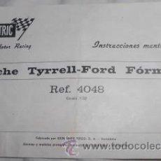 Scalextric: INSTRUCCIONES DE MANTENIMIENTO DE COCHE TYRRELL-FORD FÓRMULA 1 SCALEXTRIC. Lote 47348960