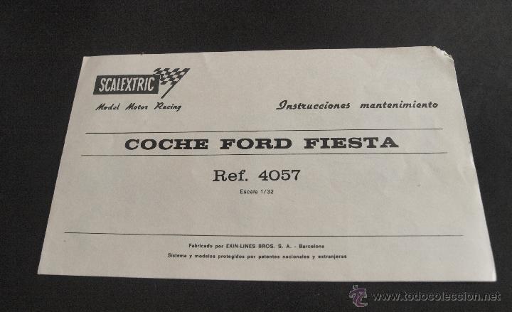 INSTRUCCIONES MANTENIMIENTO COCHE EXIN. ORIGINAL 100% GARANTIZADO (6) (Juguetes - Slot Cars - Scalextric Pistas y Accesorios)