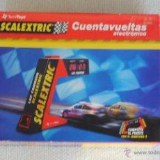 Scalextric: CUENTA VUELTAS SCALEXTRIC ELECTRONICO CON PISTA COMPENSADORA , INSTRUCCIONES Y CAJA. Lote 48216217