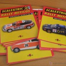 Scalextric: RALLY MITICOS ALTAYA 19 FASCICULOS Y TAPAS. Lote 48927570