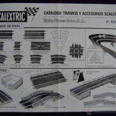 Scalextric: SCALEXTRIC FOLLETO-CATALOGO TRAMOS Y ACCESORIOS. EXIN-LINES BROS. 4ª EDICION.. Lote 49487866