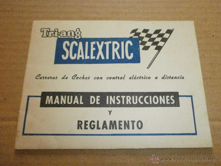 SCALEXTRIC EXIN MANUAL (Juguetes - Slot Cars - Scalextric Pistas y Accesorios)