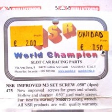 Scalextric: NSR: IMPROVED M3 SET SCREW 050 . 4 PIEZAS. NUEVAS . Lote 50322335