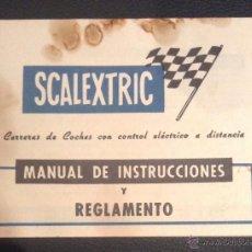 Scalextric: MANUAL DE INSTRUCCIONES Y REGLAMENTO SCALEXTRIC EXIN. Lote 50899307
