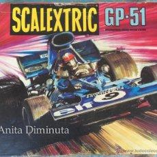 Scalextric: ANTIGUA CAJA DE SCALEXTRIC - GP - 51 - CON FERRARI B3 F1 Y TYRRELL FORD - AÑO 1976 APROX - CON INSTR. Lote 50982270