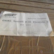 Scalextric: DOCUMENTO INSTRUCCIONES MANTENIMIENTO COCHE TYRRELL P 34 DE SCALEXTRIC EXIN. Lote 51017477