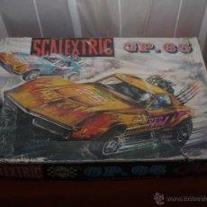 Scalextric: SCALEXTRIC EXIN, CIRCUITO GP 65, 2 COCHES CORVETTE IMPECABLES, CIRCUITO MUY DIFICIL, VER FOTOS.. Lote 109042368