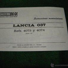 Scalextric: INSTRUCCIONES COCHE LANCIA O37 DE SCALEXTRIC. Lote 52660929