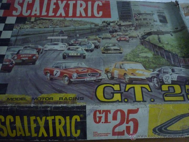 SCALEXTRIC CIRCUITO GT 25. ORIGINAL. COMPLETO. AÑO 1970. COCHES MERCEDES 250 SL SPORT (Juguetes - Slot Cars - Scalextric Pistas y Accesorios)