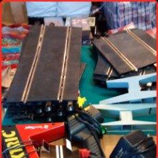 Scalextric: LOTE SCALEXTRIC TECNITOYS, RECTAS, CURVAS, MANDO, ALIMENTADOR. Lote 73769233