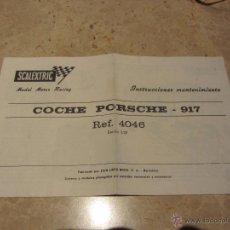 Scalextric: SCALEXTRIC INSTRUCCIONES MANTENIMIENTO PORCHE 917. Lote 54102912