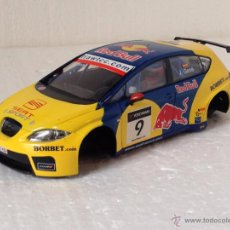 Scalextric: SCALEXTRIC SEAT LEON GENE RED BULL SOLO CARROCERIA Y CHASIS. Lote 54492106