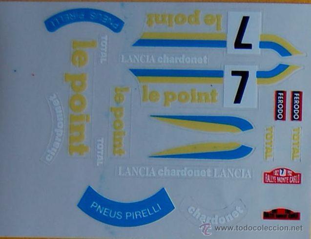 LANCIA STRATOS LE POINT ADHESIVOS TROQUELADOS SCALEXTRIC EXIN (Juguetes - Slot Cars - Scalextric Pistas y Accesorios)