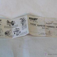 Scalextric: SCALEXTRIC INSTRUCCIONES MANTENIMIENTO COCHE PORCHE CARRERA R S. Lote 54846033